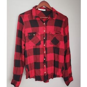Plaid button up from Maurices